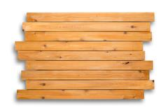 Cedar wood background of staggered boards Stock Photos
