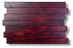 Mahogany stained staggered wood boards Stock Photos