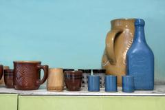 Bunch Of Ceramic Crockery Stock Photos
