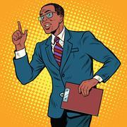 Businessman gesture of the teacher Stock Illustration