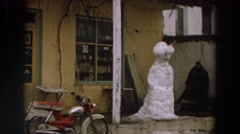 1958: symbolising loneliness in a changing world ITALY Stock Footage