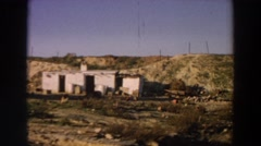 1958: old sheds and farm along the highway. ITALY Stock Footage