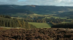 1k Timelapse, Tweed Valley, Scottish Borders Stock Footage