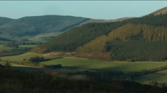 Rural Landscape, Scottish Borders Stock Footage