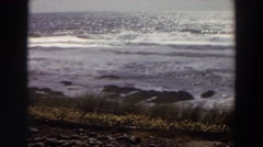1964: vast sea lying with sparkling water in the sunny daytime  Stock Footage