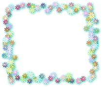 Floral Page Border Stock Illustration