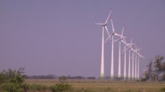 Wind turbine background for chromakey Stock Footage