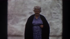 1964: woman waiting alone on the bus. WASHINGTON Stock Footage