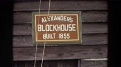 1964: alexander's blockhouse, built 1855, seen at daytime WASHINGTON Stock Footage