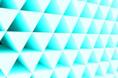 Wall of paper prisms Stock Illustration