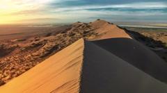 Sand dune in desert national park Altyn-Emel, Kazakhstan. 4K TimeLapse - Stock Footage