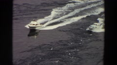 1964: two yachts plying the waters WASHINGTON Stock Footage