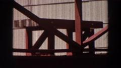 1964: pillar like structure foundation type WASHINGTON Stock Footage