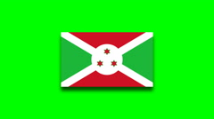 4K - Burundi country flag on green screen Stock Footage