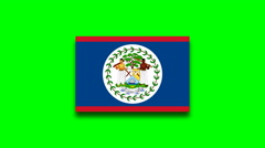 4K - Belize country flag on green screen Stock Footage