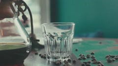 Beautiful composition. Intoxicating drink. Hot drink Stock Footage