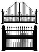 Iron Gate Silhouette Stock Illustration