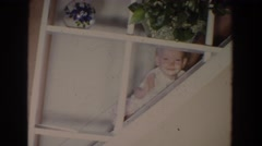 1965: can i step with stair case FALLSTON MARYLAND Stock Footage