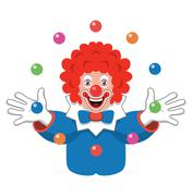 Vector icon of juggling clown Piirros