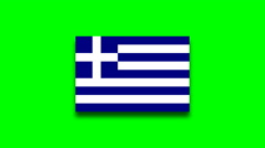 4K - Greece country flag on green screen Stock Footage