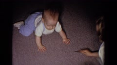 1965: children playing with cards on the floor. FALLSTON MARYLAND Stock Footage