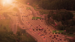 Morning traffic on highway E4 north  of Stockholm. Stock Footage