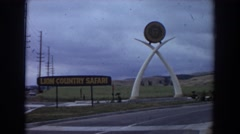 1974: abstract sign along the highway. IRVINE CALIFORNIA Stock Footage