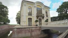 Hermitage Pavilion in Peterhof Stock Footage
