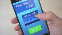 4K Smartphone Sending Payment With Wireless Credit Card app Mobile Device Stock Footage