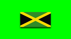 4K - Jamaica country flag on green screen Stock Footage