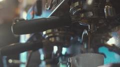 Hands barista. Barista prepares coffee Stock Footage