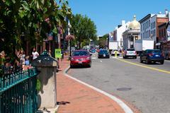 Street scene at the Georgetown nighborhood in Washington D.C. Kuvituskuvat