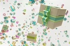 Background with falling presents Stock Illustration