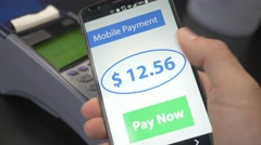 4K Wireless Mobile Phone Payment Over Terminal Stock Footage