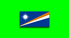 4K - Marshall Islands country flag on green screen Stock Footage