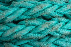 Ship ropes sack as black and white color Stock Photos