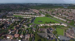 Aerial view of a housing estate in Dudley. Stock Footage