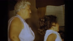 1960: the whole family sits down to dinner BEL AIR MARYLAND Stock Footage