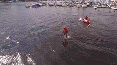 Flyboard training Stock Footage