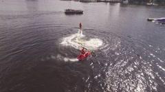 Flyboard training Stock Footage