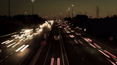 Busy highway at night in Ontario, Canada, 4k uhd Timelapse Stock Footage