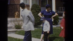 1960: family socializing at a wedding. BEL AIR MARYLAND Stock Footage