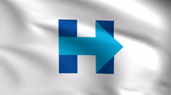 Hillary Clinton Logo 4k Background Stock Footage