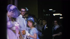 1960: a packed crowd at a wedding ceremony BEL AIR MARYLAND Stock Footage