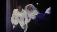 1960: newlyweds leaving the chapel. BEL AIR MARYLAND Stock Footage