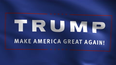 Donald Trump Logo 4k Background Stock Footage