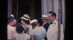 1960: all the family gathered outside a church during a wedding BEL AIR MARYLAND Stock Footage