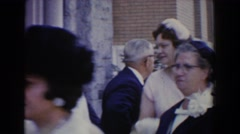 1960: people socializing at a wedding. BEL AIR MARYLAND Stock Footage