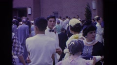 1960: people gathering for a wedding BEL AIR MARYLAND Stock Footage
