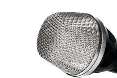 The head of the microphone Stock Photos